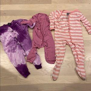 3 Girls PJs, 6-12 months